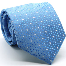 Load image into Gallery viewer, Mens Dads Classic Blue Dot Pattern Business Casual Necktie & Hanky Set M-5 - Ferrecci USA