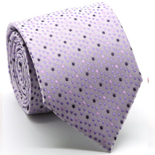 Load image into Gallery viewer, Mens Dads Classic Purple Dot Pattern Business Casual Necktie & Hanky Set M-7 - Ferrecci USA