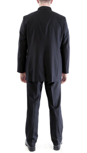 Ferrecci MIRAGE Mandarin Collar 2pc Tuxedo - Black - Ferrecci USA