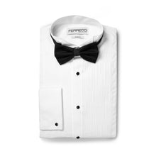 Load image into Gallery viewer, Ferrecci Men's Max White Slim Fit Wing Tip Collar Pleated Tuxedo Shirt - Ferrecci USA