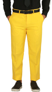 Paul Lorenzo Mens Yellow Slim Fit 2 Piece Suit - Ferrecci USA