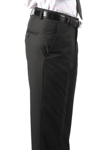 Premium Mens MP101 Black Slim Fit Dress Pants - Ferrecci USA
