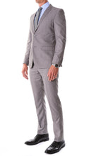 Load image into Gallery viewer, Oslo Grey Notch Lapel 2 Piece Slim Fit Suit - Ferrecci USA