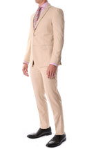 Load image into Gallery viewer, Oslo Tan Notch Lapel 2 Piece Suit Slim Fit - Ferrecci USA