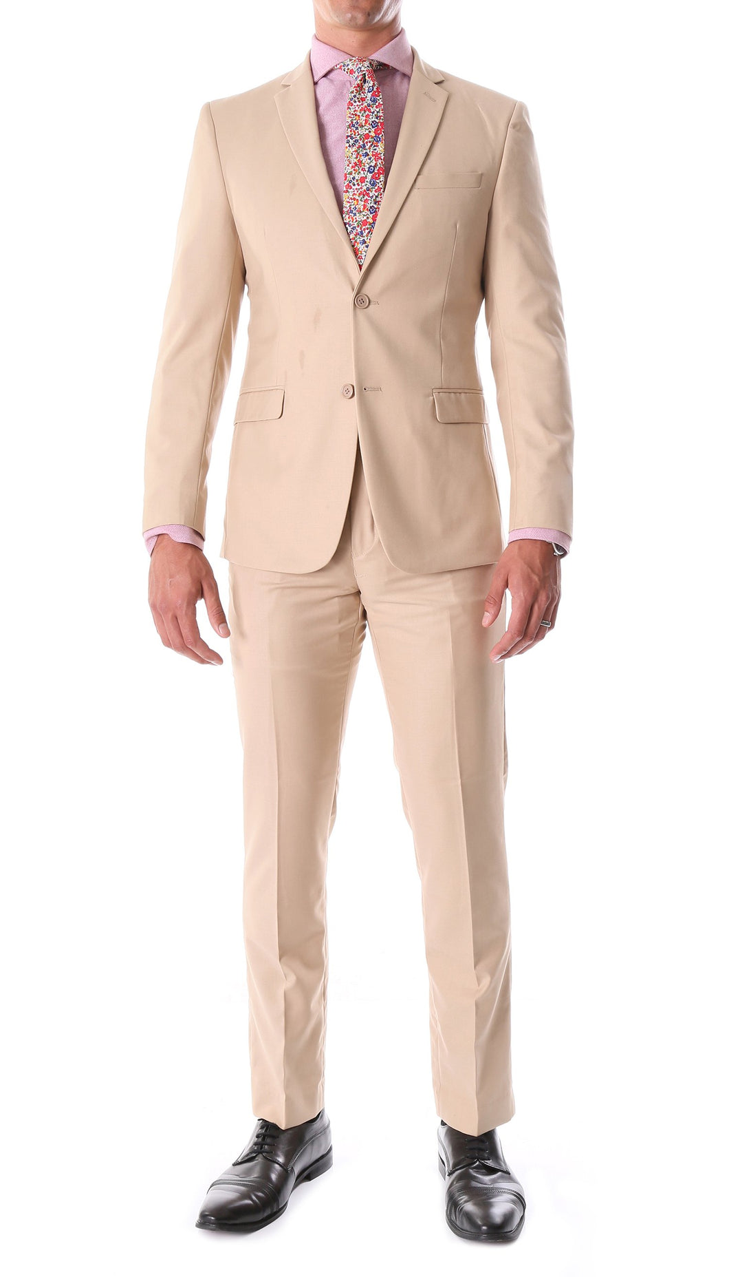 Oslo Tan Notch Lapel 2 Piece Suit Slim Fit - Ferrecci USA