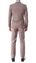 Load image into Gallery viewer, Oslo Taupe Notch Lapel 2 Piece Slim Fit Suit - Ferrecci USA