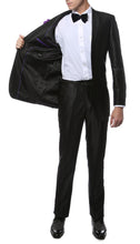 Load image into Gallery viewer, Oxford Black Sharkskin Slim Fit Suit - Ferrecci USA