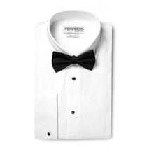 Load image into Gallery viewer, Ferrecci Men's Paris White Regular Fit Lay Down Collar Pleated Tuxedo Shirt - Ferrecci USA