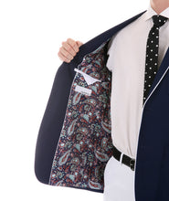 Load image into Gallery viewer, Porter Navy Men's Slim Fit Blazer - Ferrecci USA