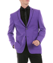 Load image into Gallery viewer, Mens Porter Purple Slim Fit Blazer - Ferrecci USA