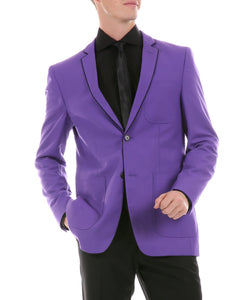 Mens Porter Purple Slim Fit Blazer - Ferrecci USA