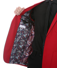Load image into Gallery viewer, Mens Porter Red Slim Fit Blazer - Ferrecci USA