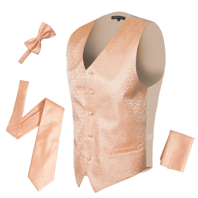 Ferrecci Mens PV50-7 Peach Vest Set - Ferrecci USA