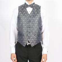 Load image into Gallery viewer, Ferrecci Mens PV50-1 Black Silver Vest Set - Ferrecci USA
