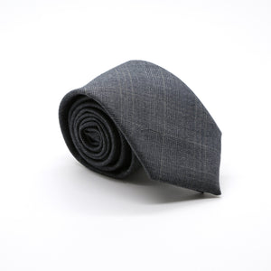Slim Charcoal and Hint Of Tan Plaid Neckties & Handkerchief - Ferrecci USA