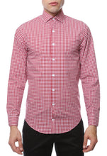 Load image into Gallery viewer, Red Gingham Check Slim Fit Shirt - Ferrecci USA