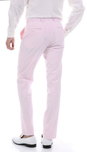 Load image into Gallery viewer, Men's  Slim Fit Two Button Pink Seersucker Suit - Ferrecci USA