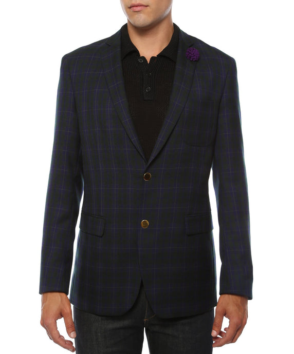 The Sodi Plaid Slim Fit Mens Blazer - Ferrecci USA