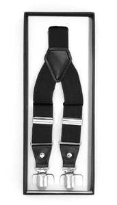 Black Clip-On Unisex Suspenders - Ferrecci USA