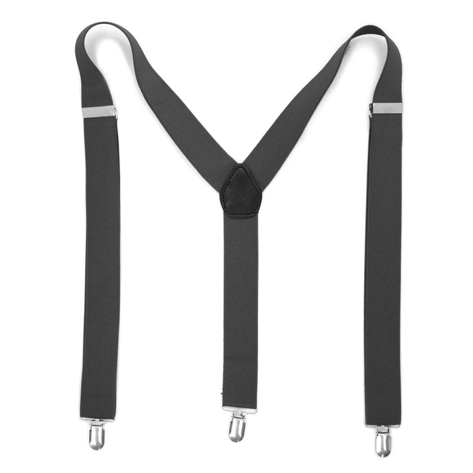 Charcoal Vintage Style Unisex Suspenders - Ferrecci USA