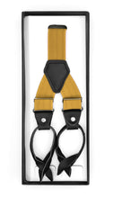 Load image into Gallery viewer, Gold Unisex Button End Suspenders - Ferrecci USA
