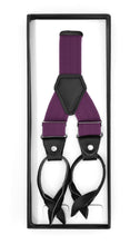 Load image into Gallery viewer, Purple Unisex Button End Suspenders - Ferrecci USA