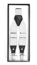 Load image into Gallery viewer, White Clip-On Unisex Suspenders - Ferrecci USA