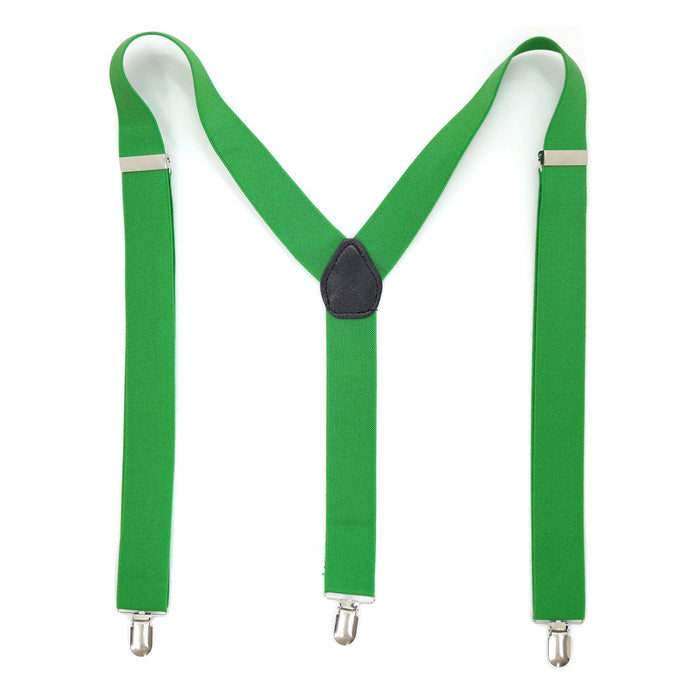 Green Vintage Style Unisex Suspenders - Ferrecci USA