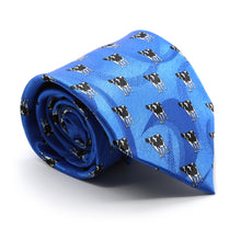 Load image into Gallery viewer, Cow Blue Necktie with Handkerchief Set - Ferrecci USA