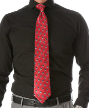 Load image into Gallery viewer, Cow Red Necktie with Handkerchief - Ferrecci USA