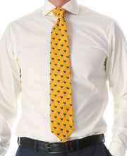 Load image into Gallery viewer, Cow Yellow Necktie with Handkerchief Set - Ferrecci USA