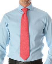 Load image into Gallery viewer, Flamingo Pink Necktie with Handkerchief Set - Ferrecci USA