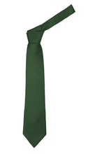 Load image into Gallery viewer, Premium Microfiber Hunter Green Necktie - Ferrecci USA