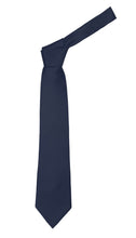 Load image into Gallery viewer, Premium Microfiber Navy Blue Necktie - Ferrecci USA