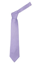 Load image into Gallery viewer, Premium Microfiber Purple Blue Necktie - Ferrecci USA
