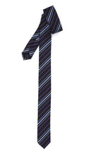 Load image into Gallery viewer, Super Skinny Stripe Purple Lavender Slim Tie - Ferrecci USA