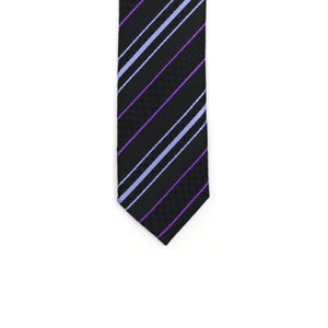 Super Skinny Stripe Purple Lavender Slim Tie - Ferrecci USA