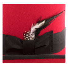 Load image into Gallery viewer, Premium Wool Red and Black Top Hat - Ferrecci USA