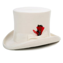 Load image into Gallery viewer, Premium Wool Off White Top Hat - Ferrecci USA
