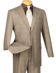 Cambridge Collection  - Tan Men's Glen Plaid Suit