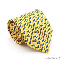 Load image into Gallery viewer, Dog Yellow Necktie with Handkerchief Set - Ferrecci USA