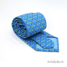 Load image into Gallery viewer, Firefly Blue Necktie with Handkerchief Set - Ferrecci USA