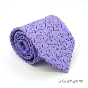Firefly Purple Necktie with Handkerchief Set - Ferrecci USA
