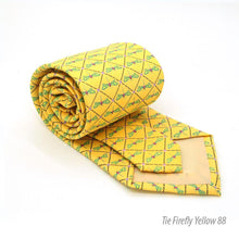Load image into Gallery viewer, Firefly Yellow Necktie with Handkerchief Set - Ferrecci USA