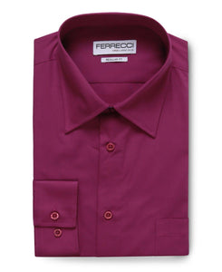 Virgo Purple Regular Fit Shirt - Ferrecci USA