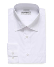 Load image into Gallery viewer, Virgo Snow Wht Reg Fit French Cuff Dress Shirt - Ferrecci USA