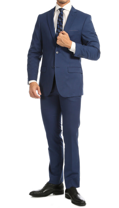Windsor Indigo Slim Fit 2pc Suit - Ferrecci USA