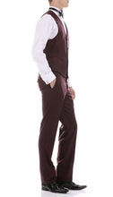 Load image into Gallery viewer, Celio Burgundy 3 Piece Slim Fit Tuxedo - Ferrecci USA