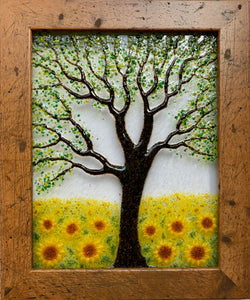 Framed Summer with Sunflowers