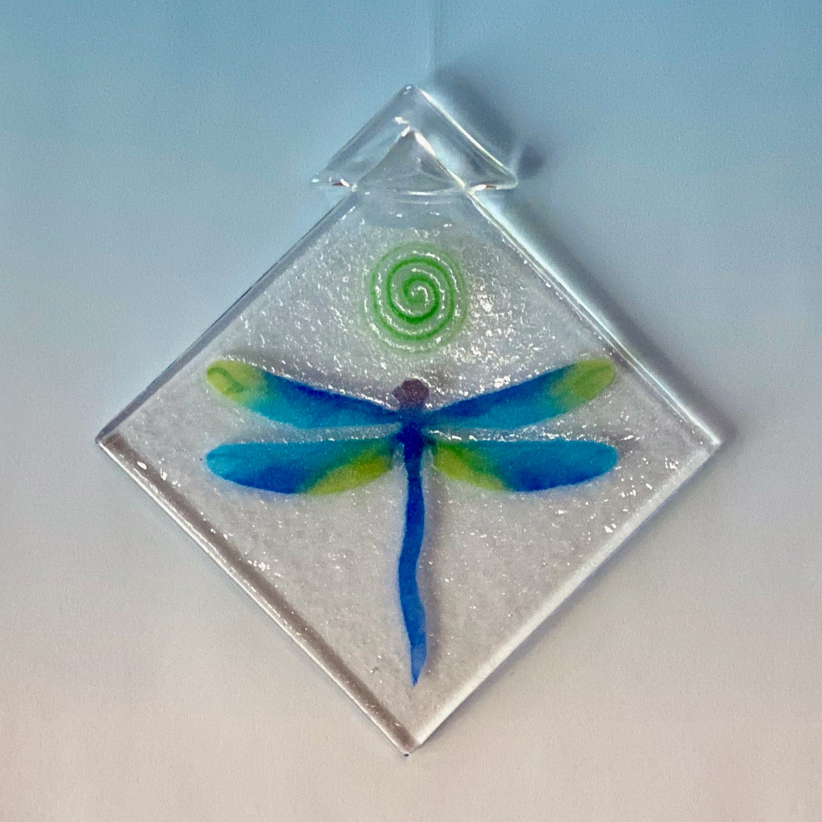 dragonfly, blue-green